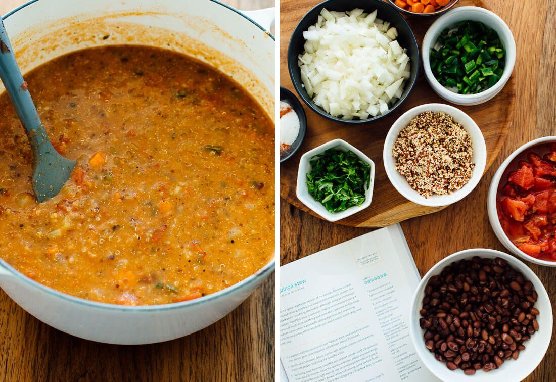 Mexican Quinoa Stew Recipe Cookie And Kate Recipe Stew Recipes Quinoa Soup Mexican Quinoa