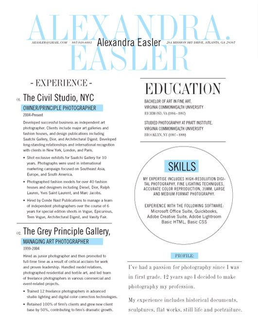 New Yorker (Blue) everything else by Megan Kidder Pinterest - a resume format