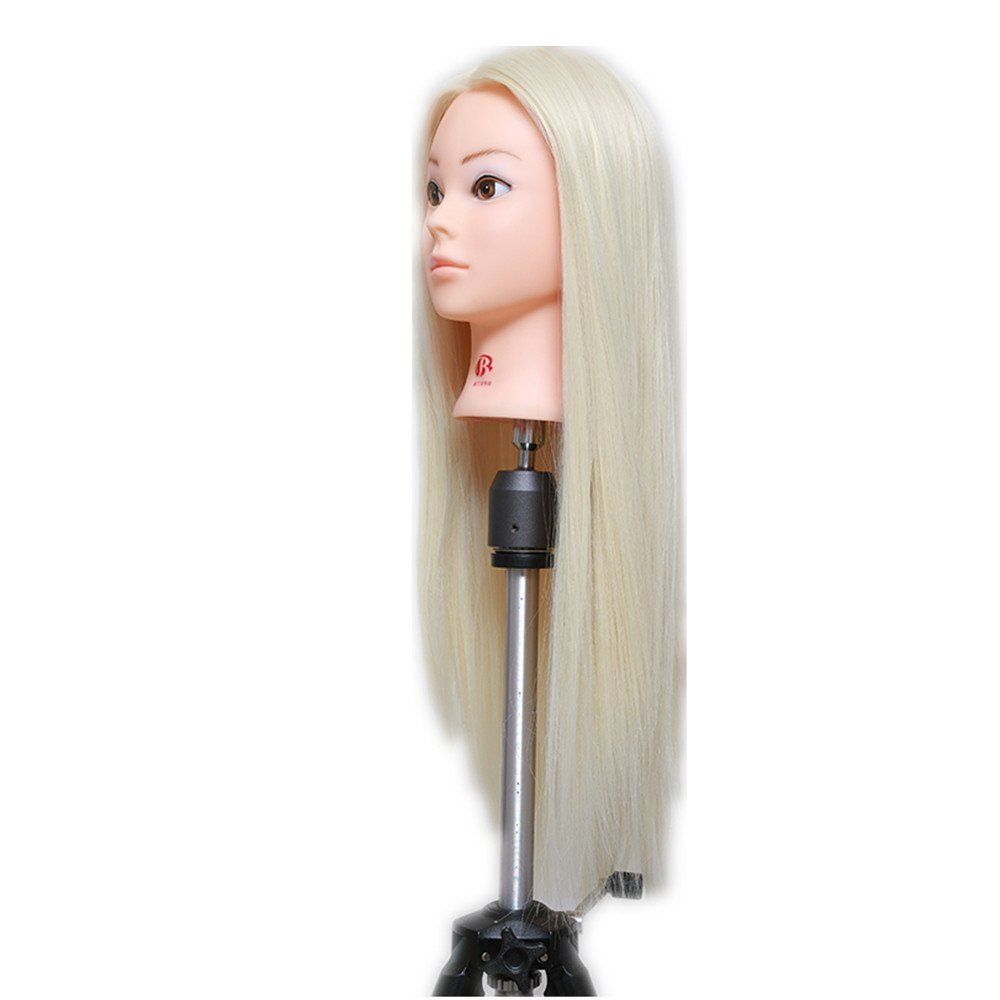 26 Blonde Professional Styling Head Wig Head Stand Women Makeup Hairdressing Dummy Doll Training Mannequin Head Ama Womens Makeup Hairdresser Mannequin Heads
