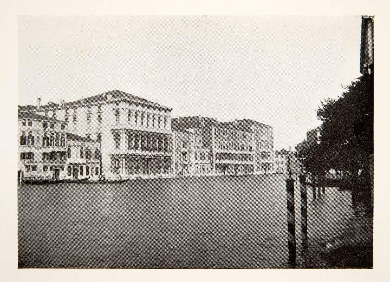 1907 Print Palazzi Rezzonico Giustinian Foscari Venice Italy Grand Canal XGVB3