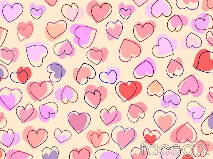 Cartoon Heart Shaped Tile Background Vector Heart Wallpaper Cartoon Heart Heart Wallpaper Hd