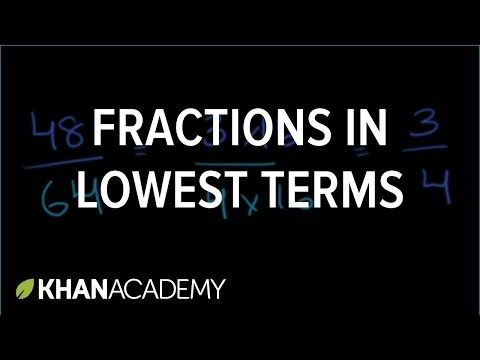 simplest form vs lowest terms  Fractions in lowest terms | Simplest form of a fraction ...