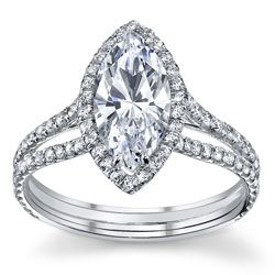 Beautiful Wedding Rings Main View Of Marquise Cut
