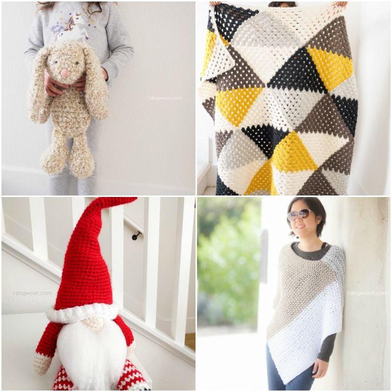 Christmas Tree Tangram: The Tangram Wrap: A Modern Crochet Scarf Wrap