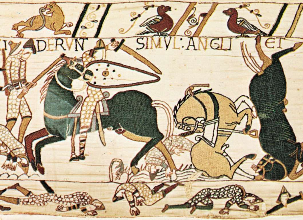 English Axman In Combat With Norman Cavalry During The