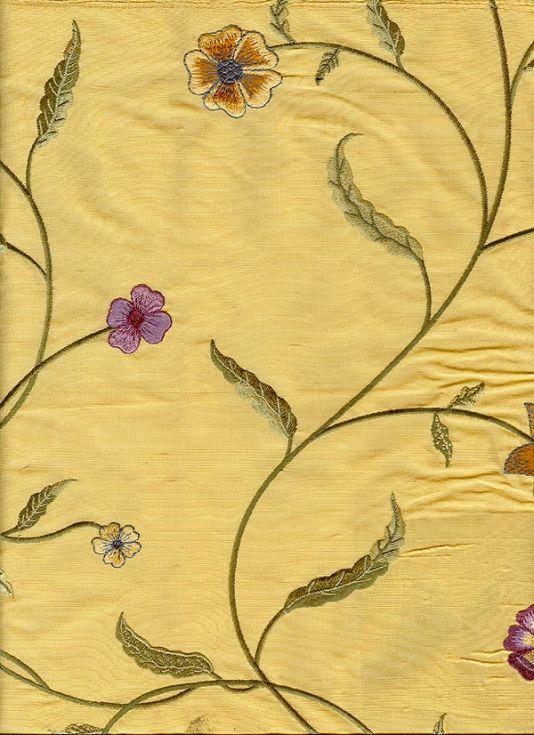 Arumina Silk Curtain Fabric Beautiful gold silk embroidered with ...