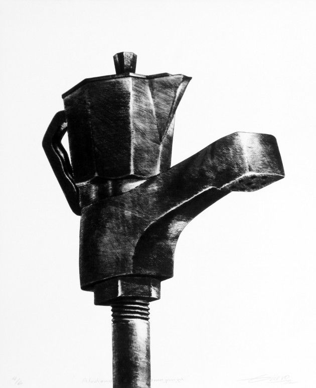 Jesús Hdez-Güero, Aludiendo a la Semejanza, Serie Equivoco, 2003, Calchography, Drypoint