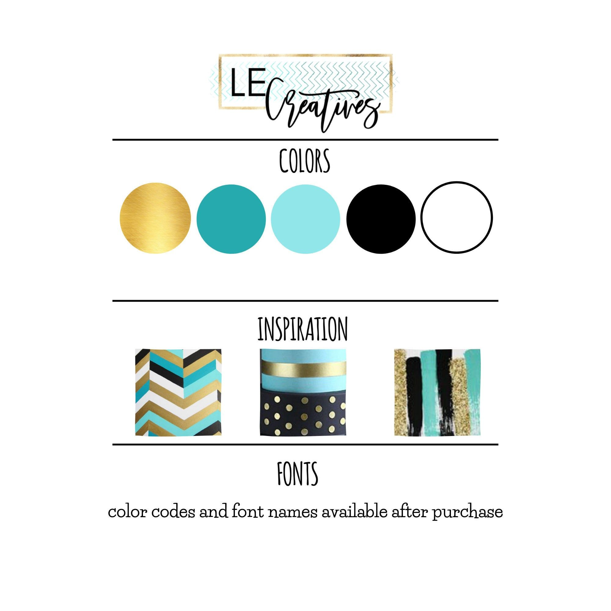 Teal Black Gold White Branding Theme Logo Business Color Theme