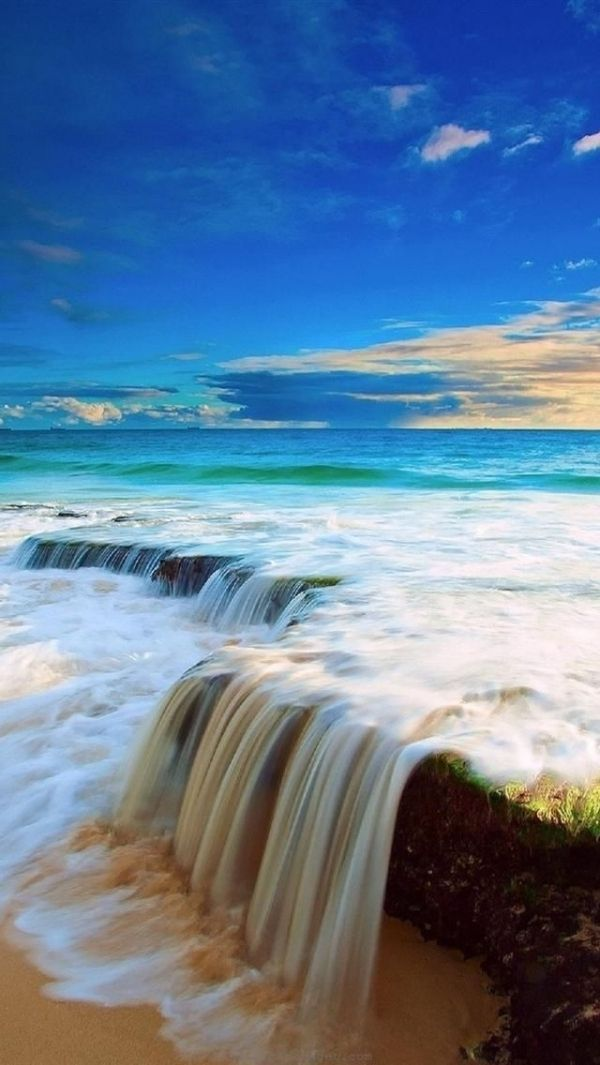 Waterfall Beach Australia Beautiful Beaches Beautiful Waterfalls Beautiful Nature