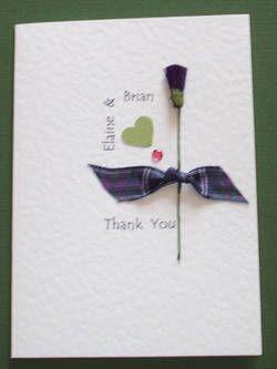 Scottish or Irish Wedding Thank You card Scottish Wedding