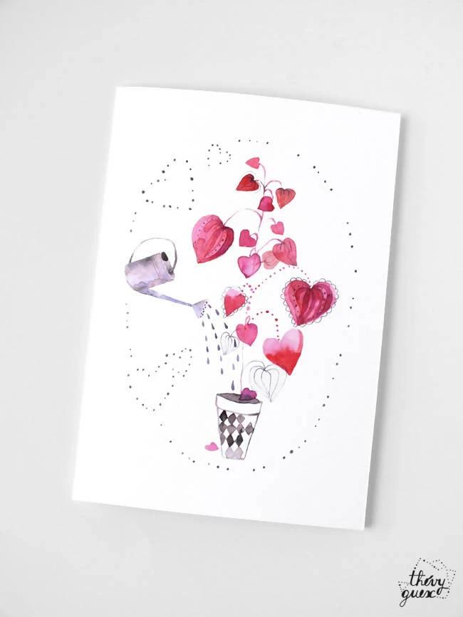 Chat Famille Pet vide Anniversaire Mères Pères Saint Valentin Carte