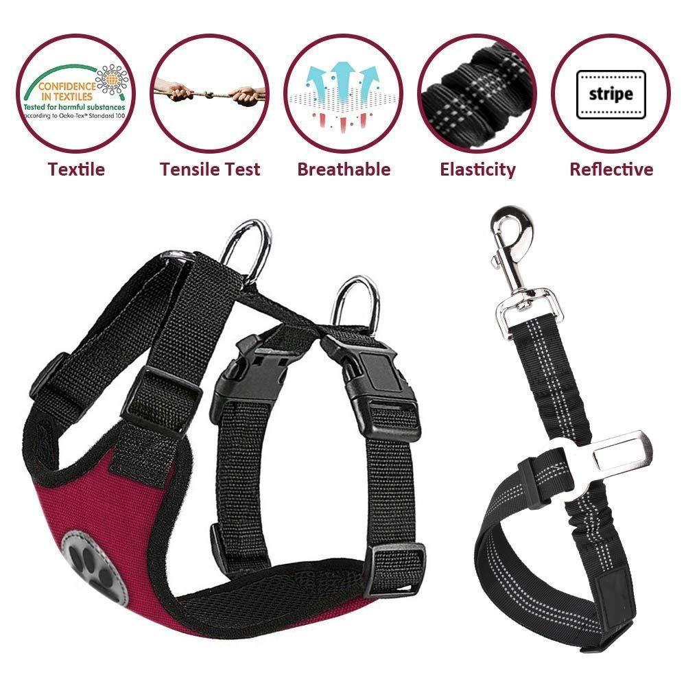 Nasus Dog Car Harness Seat Belt Vest Harness
