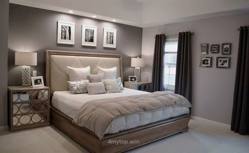 How to get new bedroom painting ideas? Pictures of Ben Moore Violet Pearl – Modern Master Bedroom Pa images