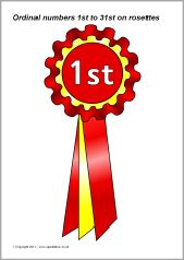 Ordinal numbers 1st to 31st on rosettes (SB3682) - SparkleBox | Ten ...
