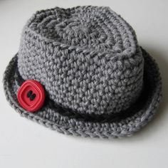 Newborn Gray Fedora Hat 0cb70c7ac7e