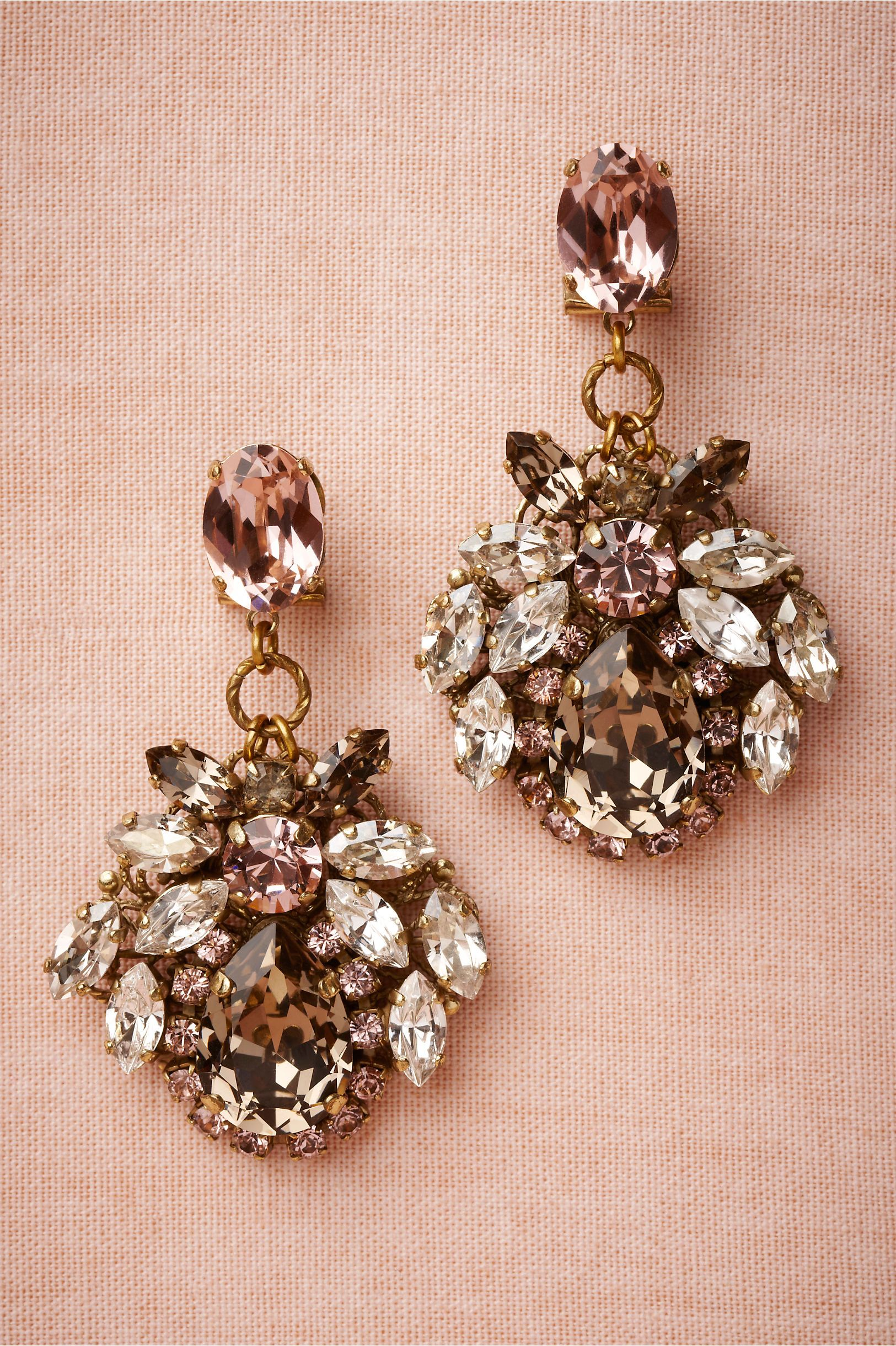 Dress up your ears with these Rosewater Drops from BHLDN