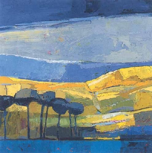 Landscape Paintings and photographs Partly Sunny Art Print by Kirsty Wither at King amp McGaw