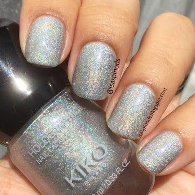 Kiko Holographic Nail Lacquer Tono Argento 001 En Little