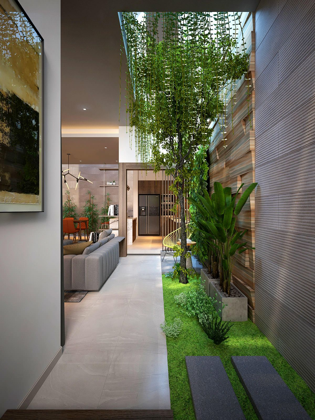 4 Homes That Feature Green Spaces Inside, With Courtyards