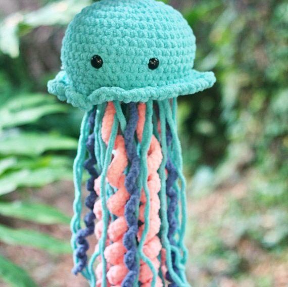 Giant Jellyfish Plush Jellyfish Plushie Plush Sea Life Crochet