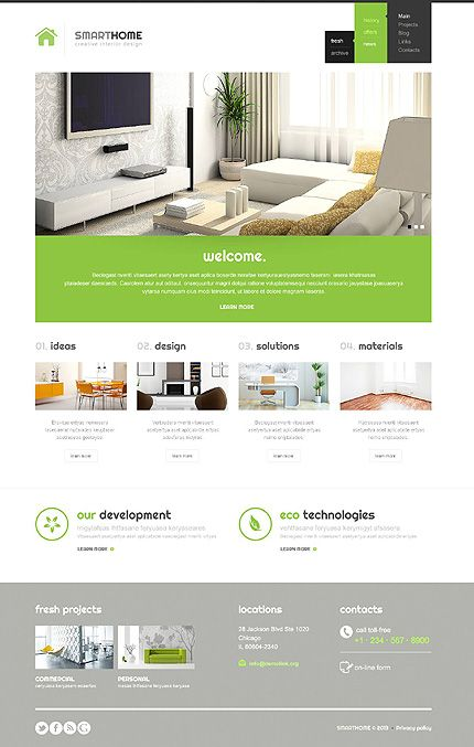 Modern Interior Design WordPress Theme | Interior Design ...