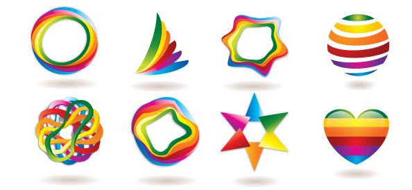 Free Logo Template Set with Colorful and Abstract Shapes | Free ...
