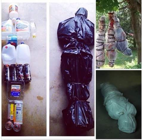 Body in a bag prank just in time for Halloween Halloween tree - zombie halloween decorations