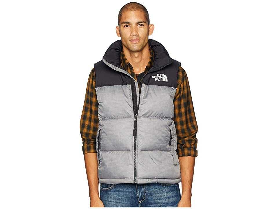 1adef01982 The North Face 1996 Retro Nuptse Vest (TNF Medium Grey Heather) Men s Vest. The  North Face 1996 Retro Nuptse Vest has a classic look with modern comfort ...