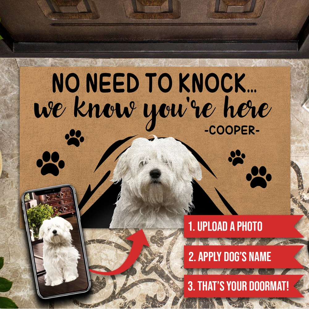 Customize Doormat For Any Pets Dog Cat Parrot No Need To Knock We Know You Re Here Make Your Own Multi