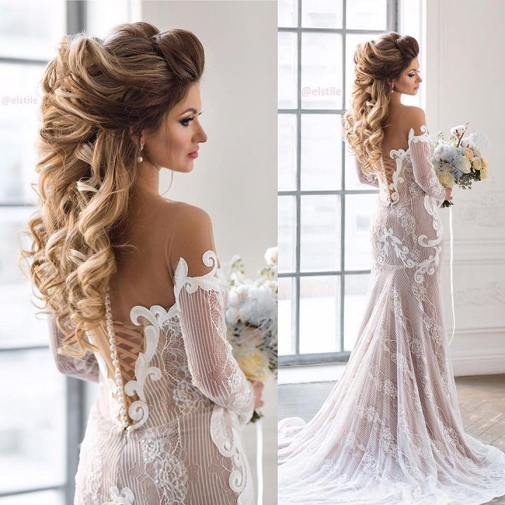 Beautiful bridal hairstyle long hair | fabmood.com #bridalhair #weddinghair #weddinghairstyle #weddinghairstyles
