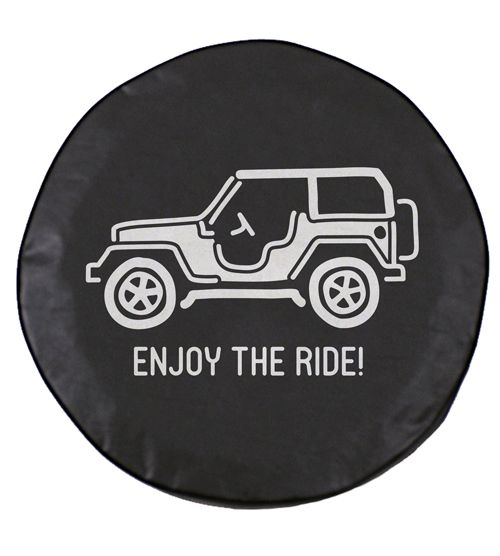 All Things Jeep Enjoy The Ride Spare Tire Cover For Jeeps Jeep Tire Cover Jeep Wheel Covers Tire Cover