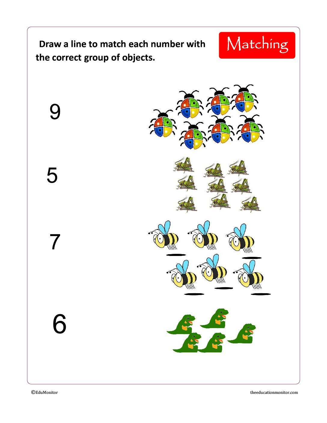 Free Kindergarten Counting Amp Preschool Numbers Worksheets