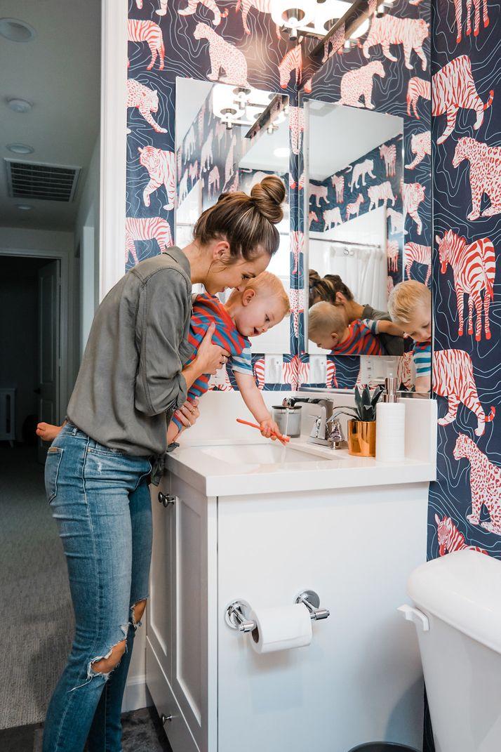Merricku0027s Art | Walls Need Love Bathroom Wallpaper @WallsNeedLove #Sponsored