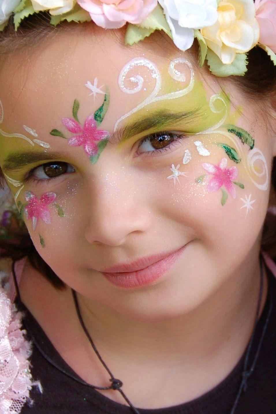 Flower Fairy Face Painting Fairy Face Paint Face Painting Face Painting Easy