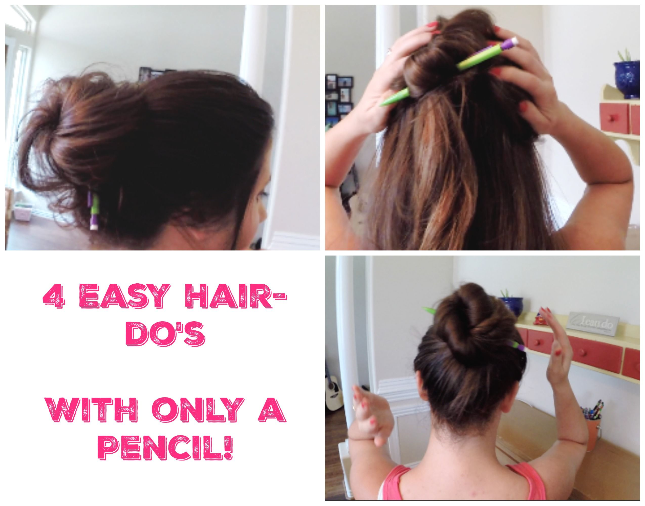 Quick And Easy Hairstyles For Medium Hair 4 Fast And Easy Hairdo's That You Can Do With Only A Pencil Easiest