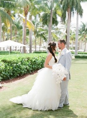 Bride & Groom in Key West, Florida |   Photography: Jose Villa Photography. Read More:  http://www.insideweddings.com/weddings/elegant-destination-wedding-with-beach-ceremony-gilded-reception/775/