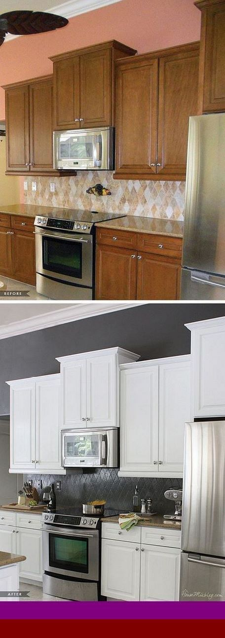 Discover new pics of - gray gel stain on oak cabinets. # ...