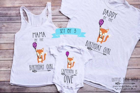 First Birthday Girl Family Shirts Fox Mama Of The Matching Famil