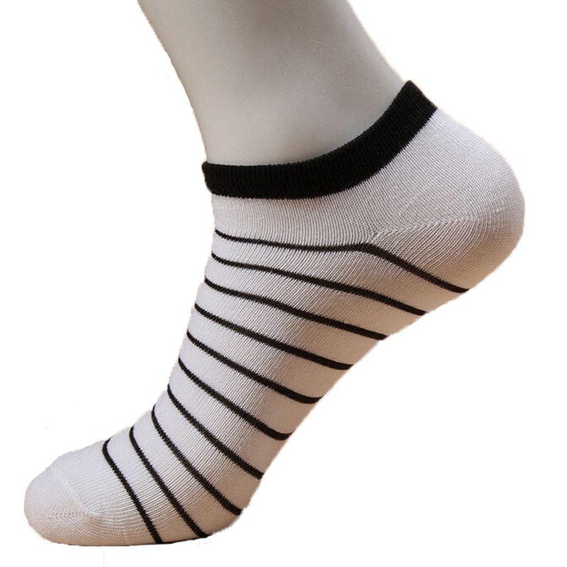 b0daee7373e3 1Pair Women Ankle Socks White Female 3D Printed Stripe Pattern Socks No  Show Socks Low Cut Invisible Boat Sock Art Spring Summer