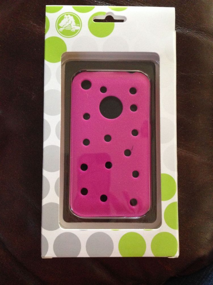 official photos da474 952ad CROCS BRAND PINK SILICONE COVER FOR iPHONES PHONE CASE FOR JIBBITZ ...