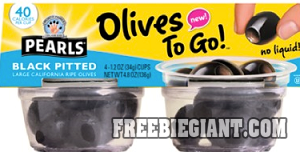 $1 off Pearls Olives to Go 4-Pack-Printable Coupon - http://freebiegiant.com/1-off-pearls-olives-go-4-pack-printable-coupon/ You can save $1 off Pearls Olives to Go 4-Pack by printing a coupon from Bricks, but you must be a US resident to get this offer.  If you would like to get your $1 off Pearls Olives to Go 4-Pack printable coupon, you can simply click here to print. Since this is Bricks, you can hit the back...