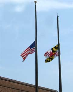 why was the flag at half mast today