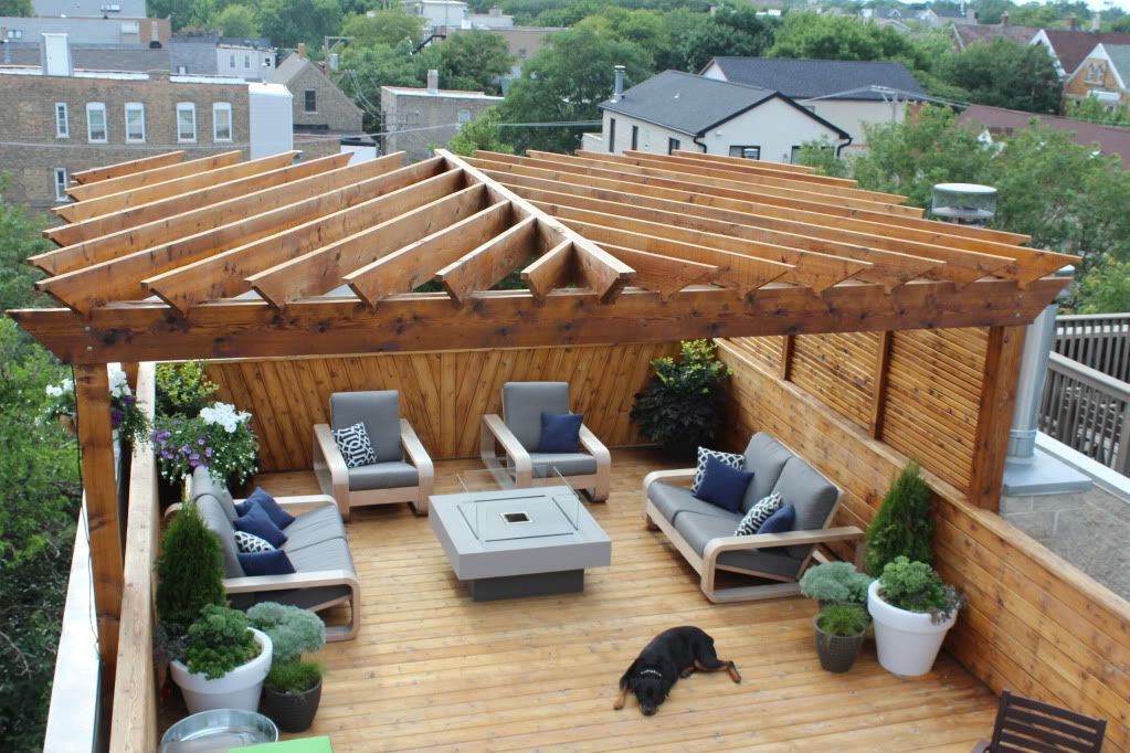 Building A Chicago Rooftop Deck Page 7 Pergola Outdoor Pergola Rooftop Patio