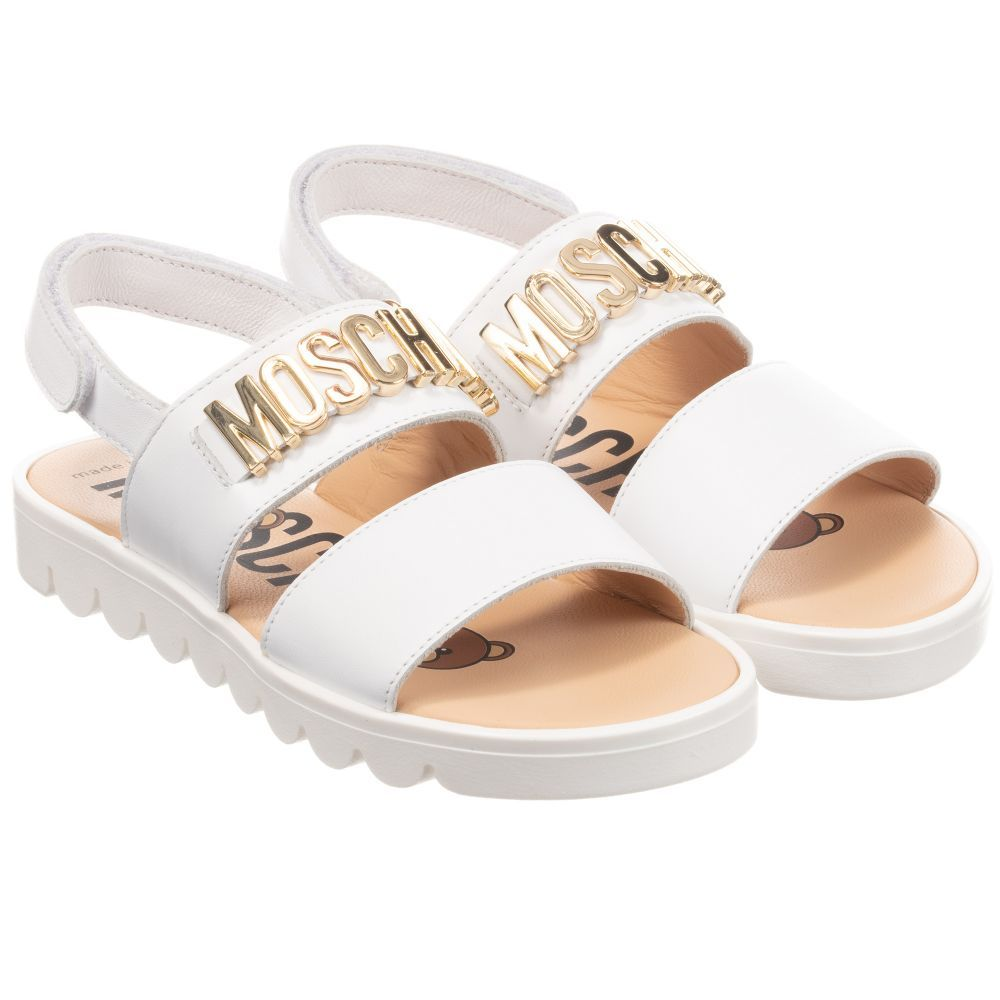 White leather sandals, Moschino