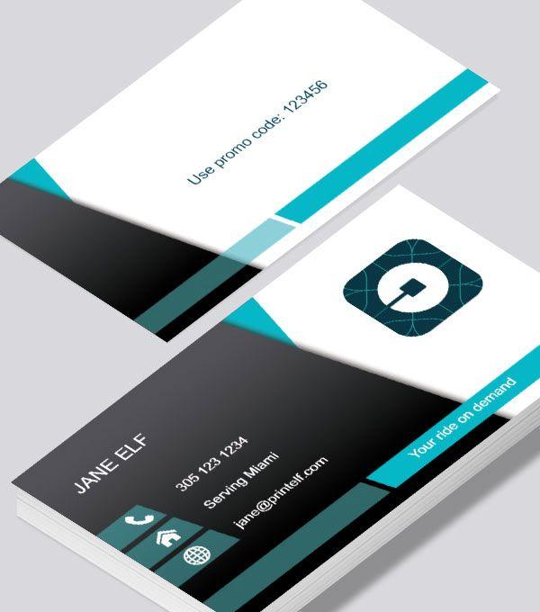 The elegant UBER business card every driver should have UBER