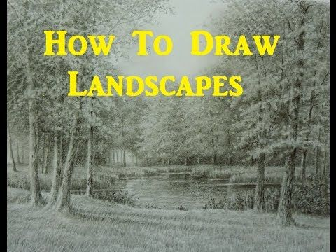 Pencil sketching landscape tutorial lessons video beginners techniques youtube