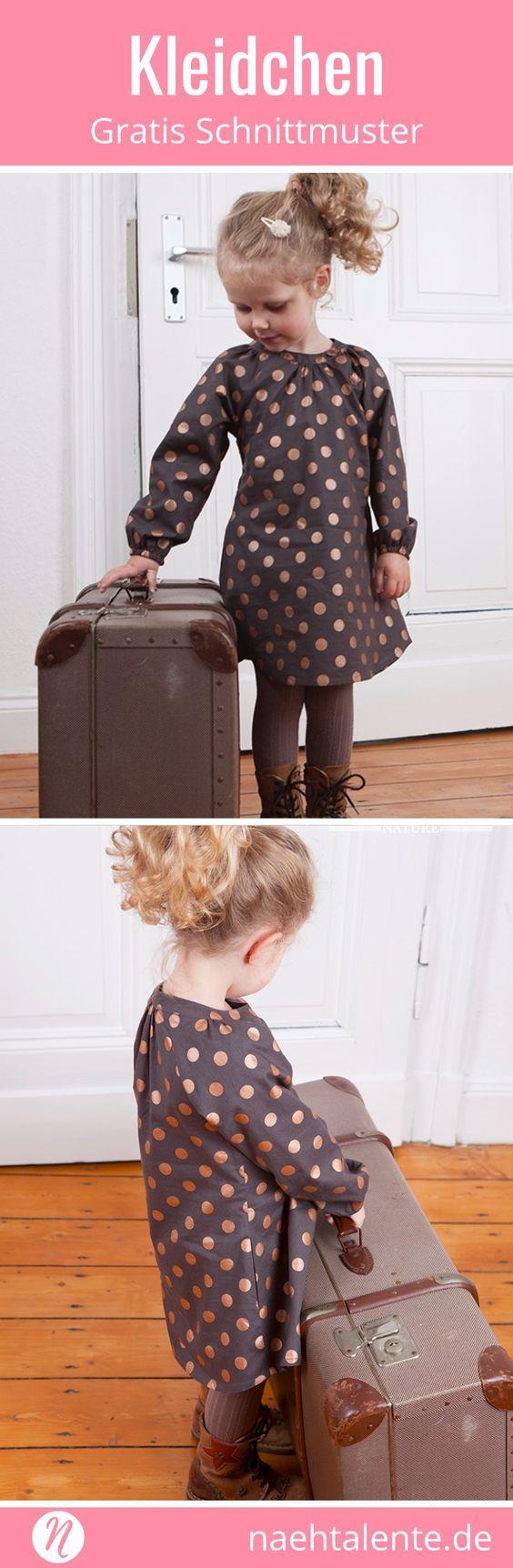 Mädchenkleid Freebook mit Raglan-Ärmeln & Nähanleitung | Nähtalente #freebookschnittmuster