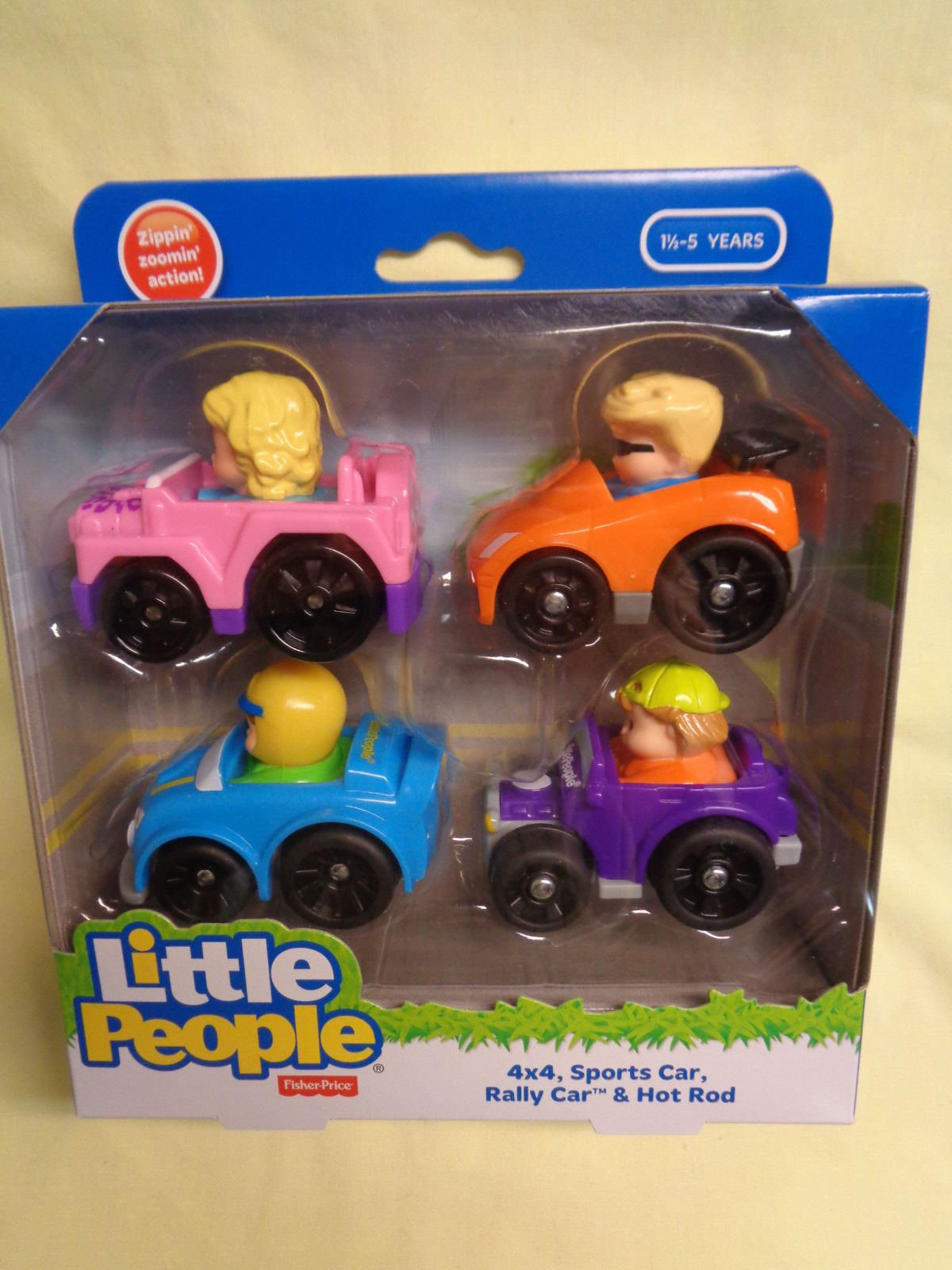LITTLE PEOPLE WHEELIES VEHICLE  X  SPORTS CAR RALLY CAR HOT ROD