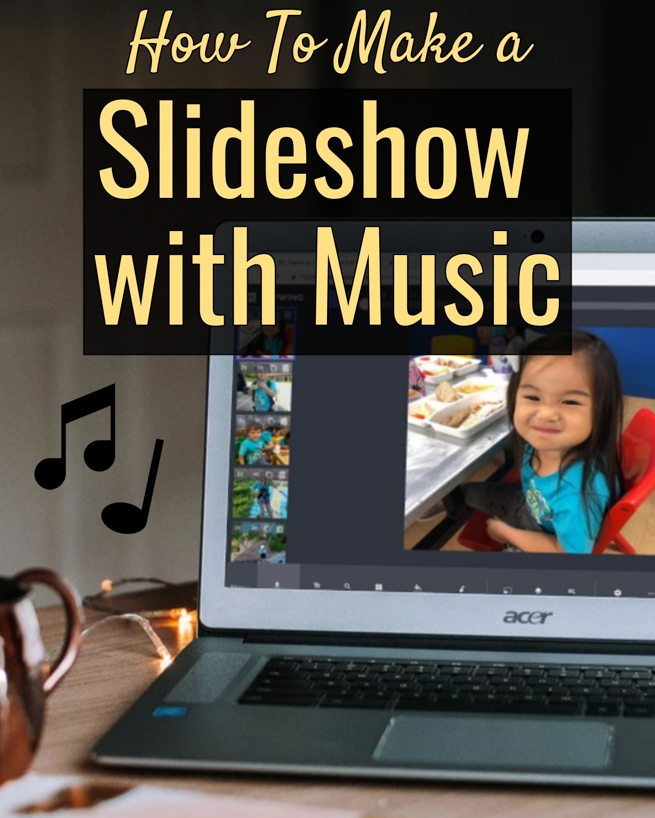 How to make a slideshow with music combine photos