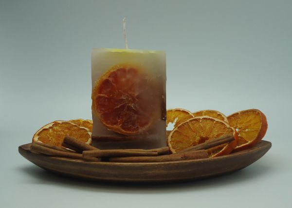 a58c33bc4e1 Hacer vela de Inclusiones de Canela y Naranja.